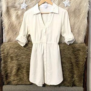 Cotton On White Button Down Tunic Shirt